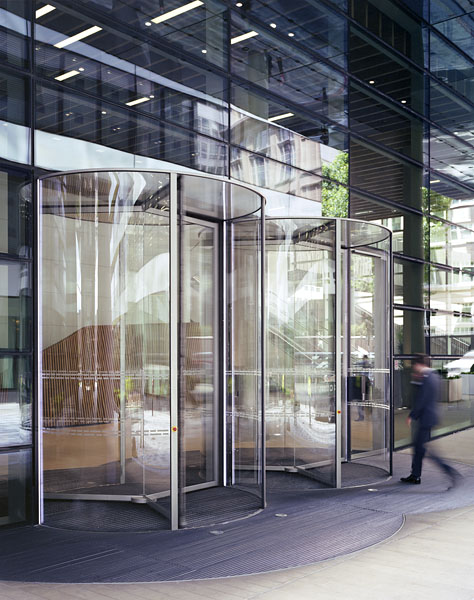 New entrance revolving doors by Gartner. 4/12