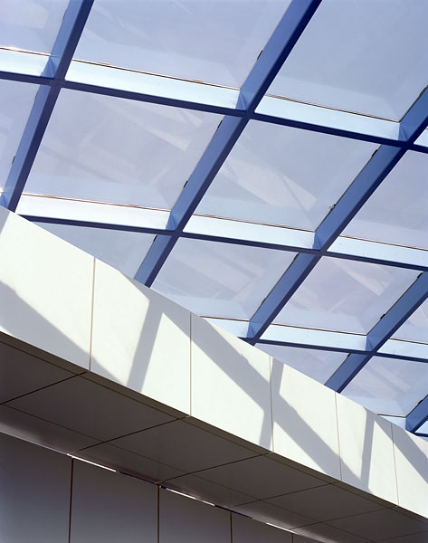 The atrium glazing from below.12/18