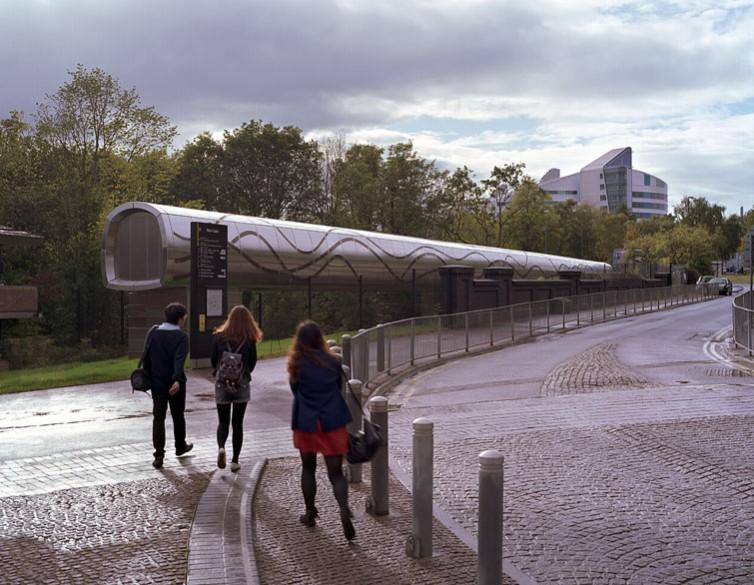 Approaching the bridge from Birmingham University.1/18