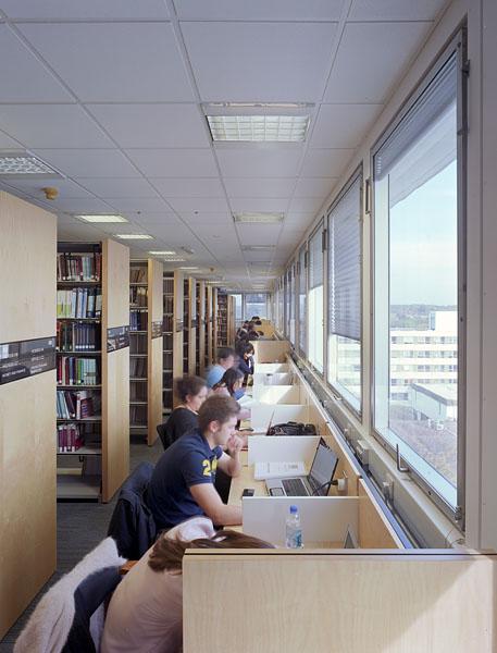 Warwick University Library, new perimeter study desks.3/17