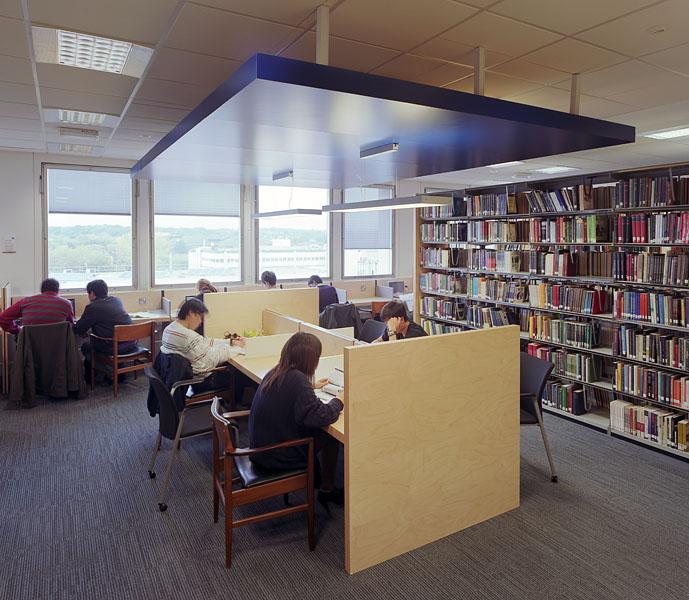 Warwick University Library, new study islands.5/17