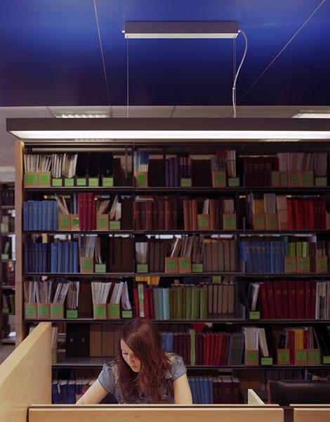Warwick University Library, new study islands.6/17