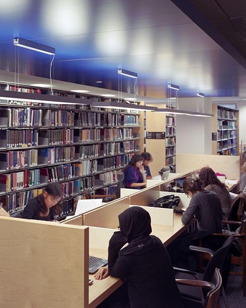Warwick University Library, new study islands.7/17