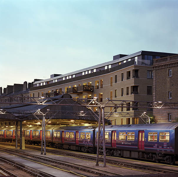The scheme sits above the National Rail train yard.7/19
