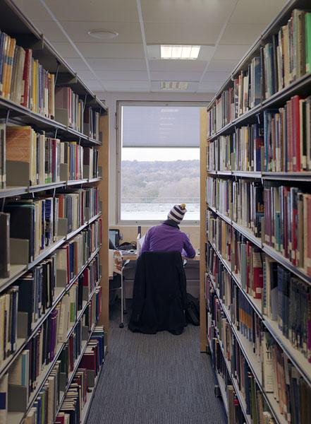 Warwick University Library, new perimeter study desks.8/17
