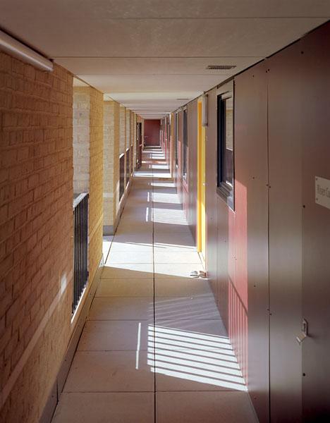Brick and panelling corridors.8/19