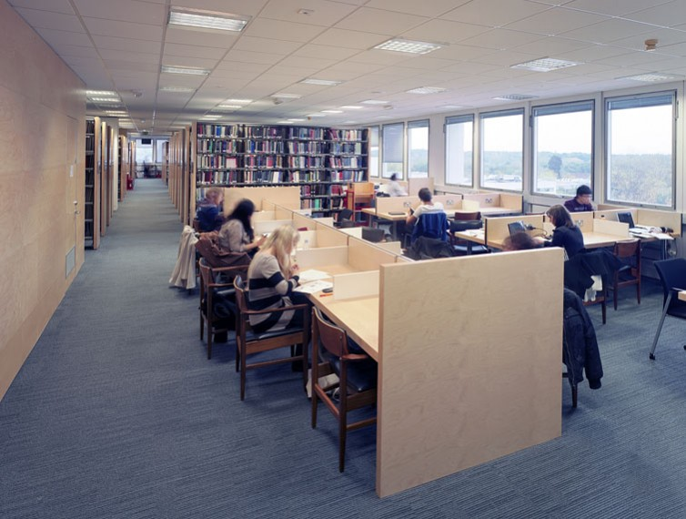 Warwick University Library, new desks in reference section.9/17