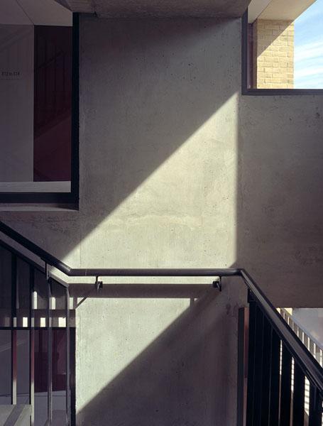 The in-situ concrete stair core.10/19