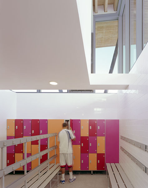 Changing rooms with clerestory. 22/41