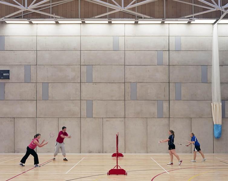 Inside the multi-use sports hall. 29/41