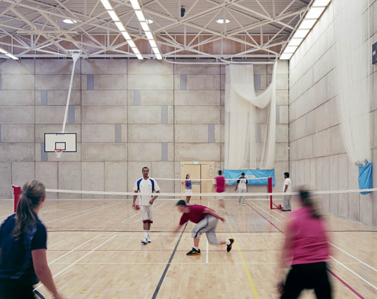 Bandminton in the multi-use sports hall. 30/41