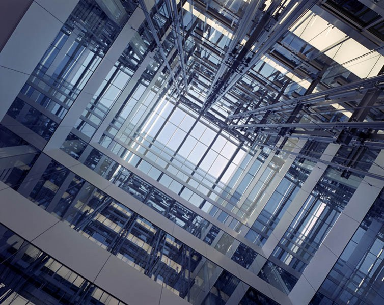 Looking up at the central atrium.15/26
