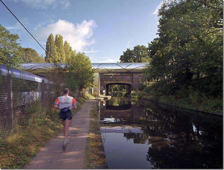 Steam-bridge-birmingham-canal-train