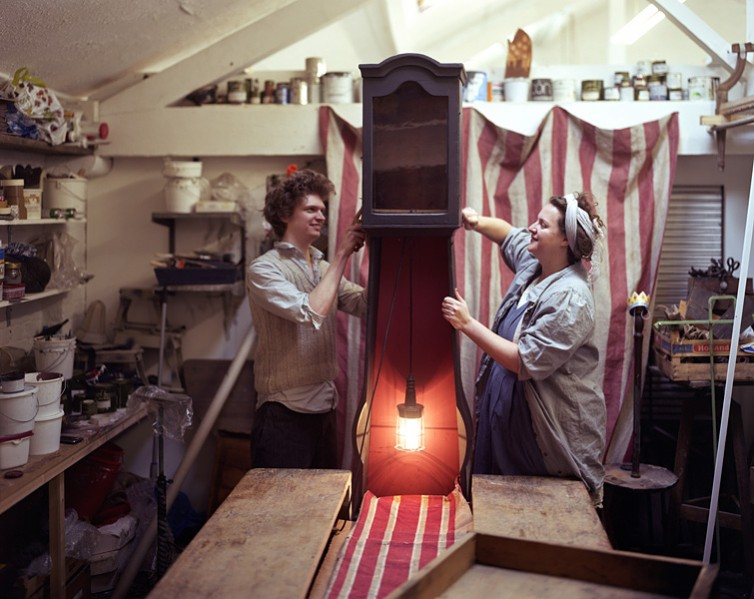 London-based designers James Plumb in their studio.1/36