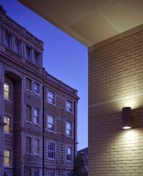 Peabody Avenue in Pimlico, London, Haworth Tompkins Architects: view from within the entrance portal.4/65