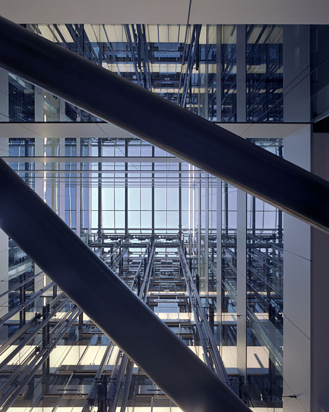 Cannon Place, Cannon Street, London, by Foggo Associates: looking up the central atrium.8/48
