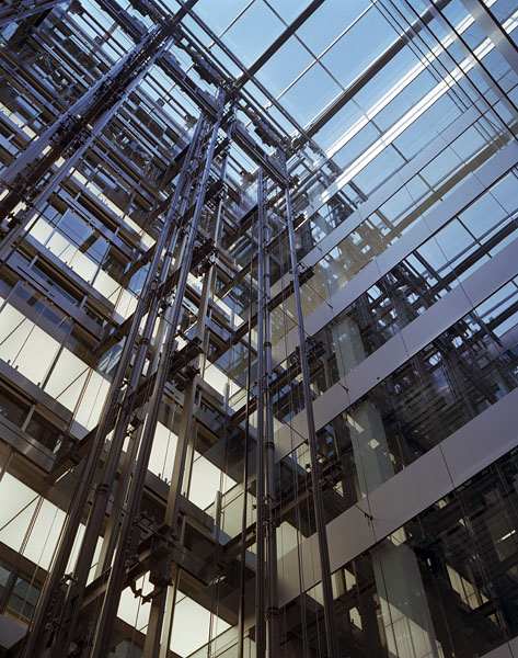 Cannon Place, Cannon Street, London, by Foggo Associates: Josef Gartner atrium glazing.9/48