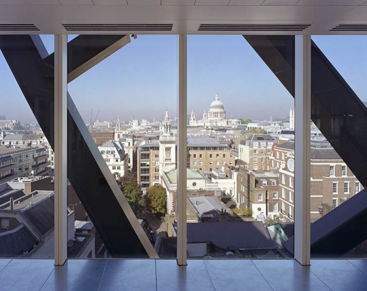 Cannon Place, Cannon Street, London, by Foggo Associates: office space offers views over the city framed by the external steelwork.10/48