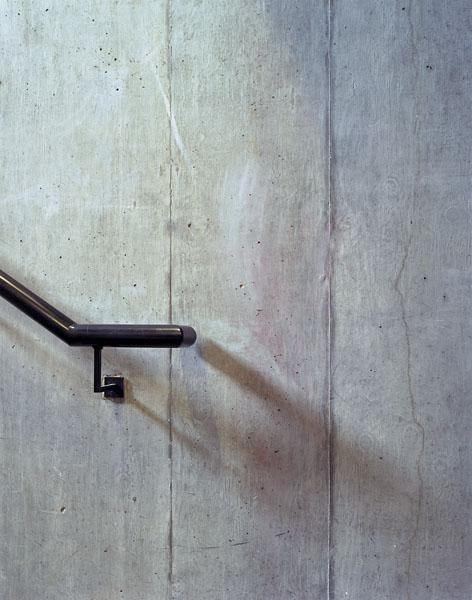 Peabody Avenue in Pimlico, London, Haworth Tompkins Architects: hand rail and in-situ concrete wall.10/65