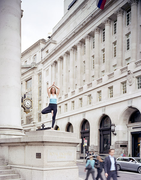 Urban Yoga with civillians.10/36