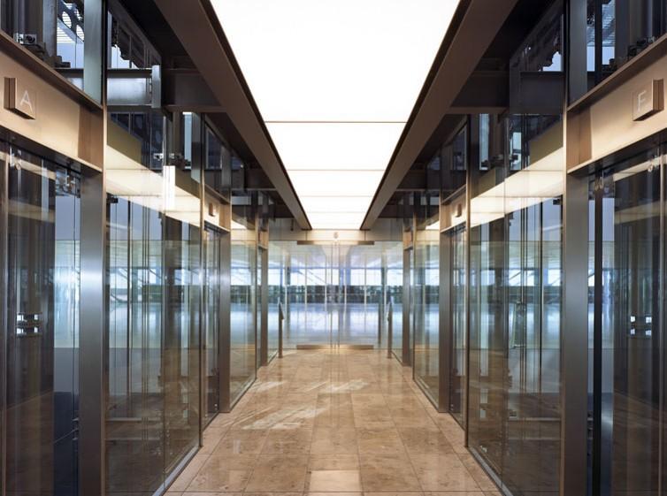 Cannon Place, Cannon Street, London, by Foggo Associates: internal lift lobby.12/48