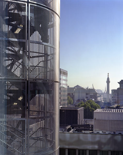 Cannon Place, Cannon Street, London, by Foggo Associates: view out towards the Monument.14/48