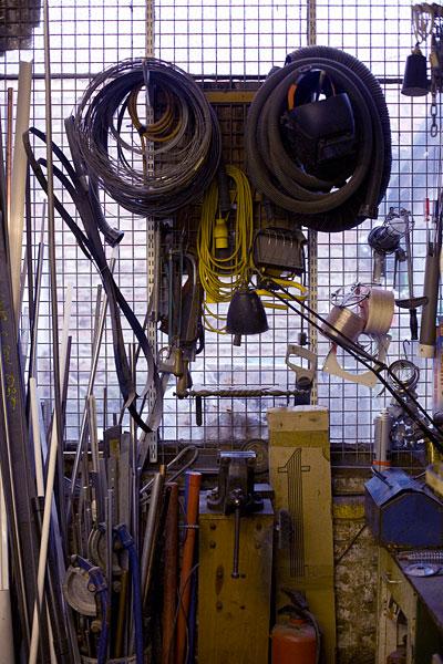Tools etc in the workshop.21/36