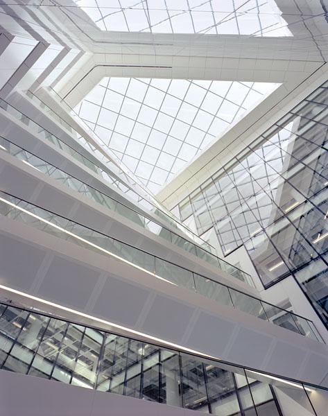 Regents Palace Hotel, Regents Street, London, by Dixon Jones Architects: looking up into the atrium.25/48