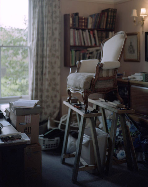 Chair in upholstery workshop, penishaplwydd.25/36