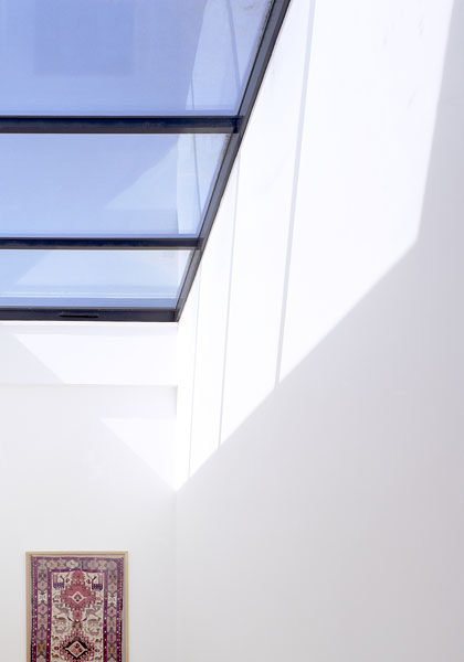 Private residence in Blackheath, London, by Alan Camp Architects: white atrium with roof light.27/65
