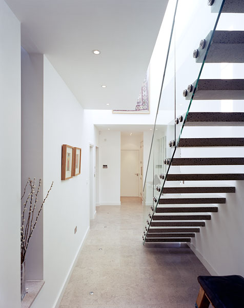Private residence in Blackheath, London, by Alan Camp Architects: staircase and hall.30/65