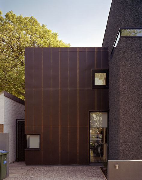 Private residence in Blackheath, London, by Alan Camp Architects: metal cladding on front facade.31/65