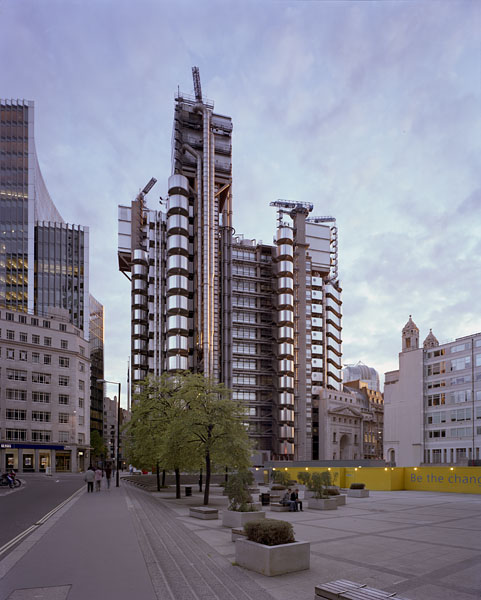 The Lloyds Building, London, by the Richard Rogers Partnership: view from the South.42/48