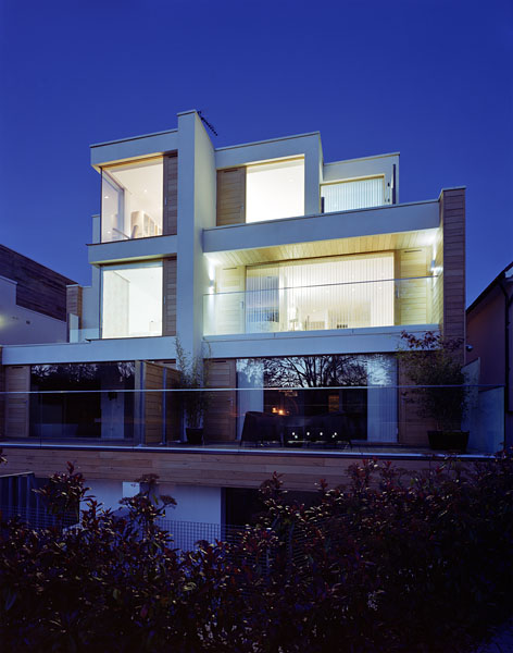Private residence in Waldegrave Rd, Twickenham by Coup De Ville Architects: rear elevation.50/65