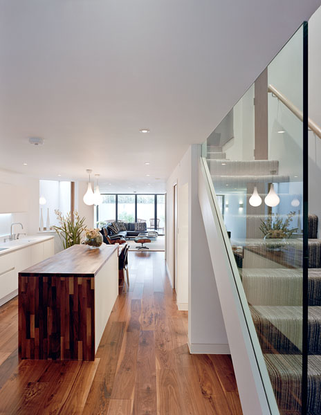 Private residence in Waldegrave Rd, Twickenham by Coup De Ville Architects: staircase and living area.54/65