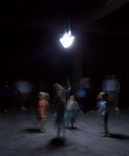 Children dancing with the robot. 6 of 7