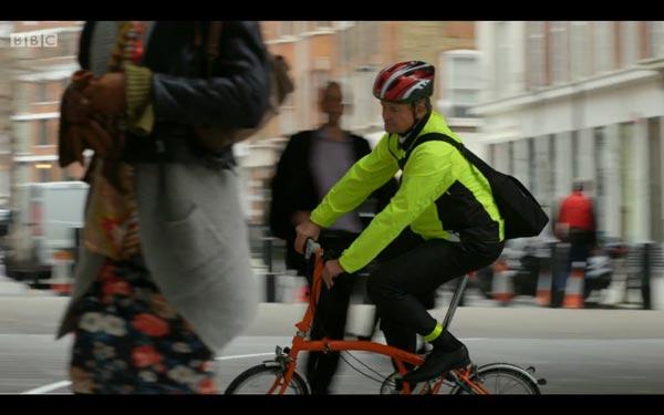 Hugh Bonneville arrives - screen grab copyright BBC