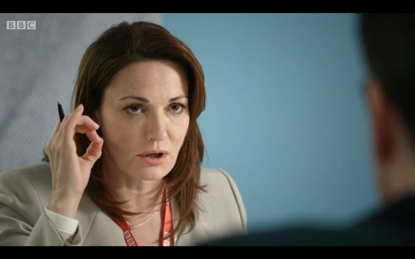 Sarah Parish as Anna Rampton - screen grab copyright BBC