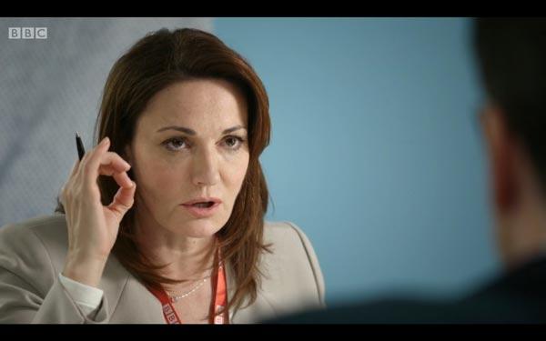 Sarah Parish as Anna Rampton - screen grab copyright BBC