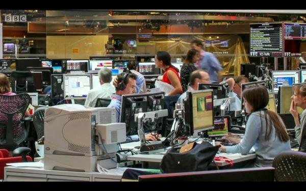 Newsroom time-lapse