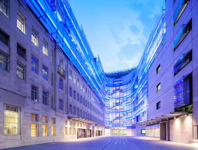 BBC New Broadcasting House Redevelopment, London by MJP Architects / Sheppard Robson Architects. 2 of 5