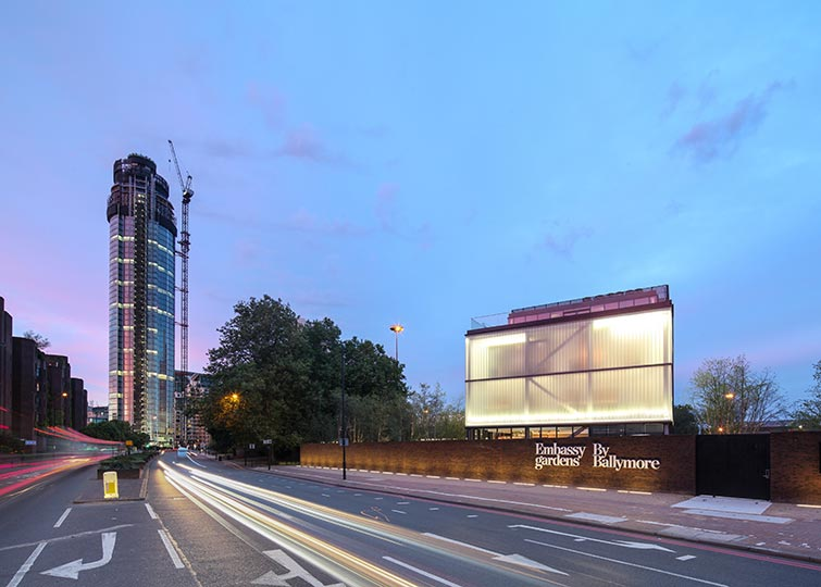 Time-lapse street view photography of Nine Elms and Embassy Gardens. 6 of 12