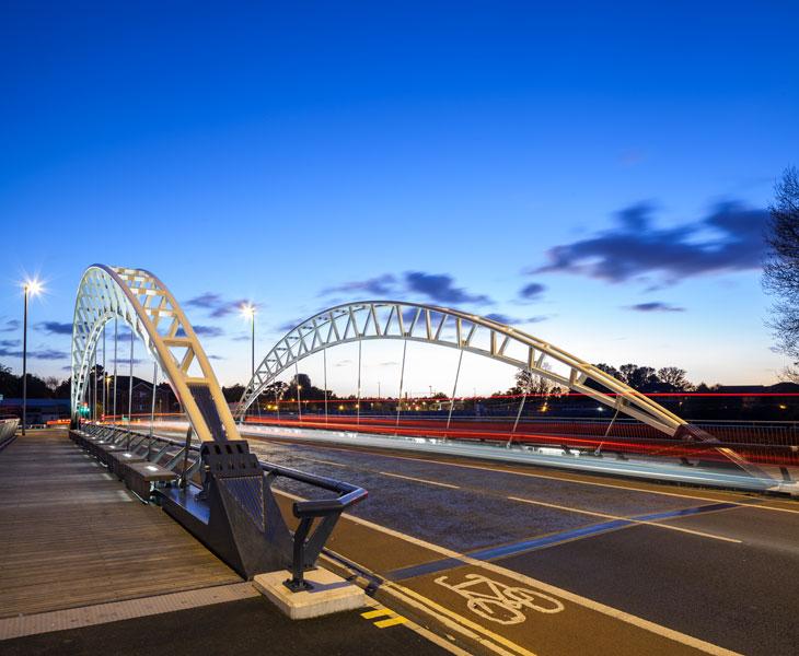 Taughton Bridge, Moxon Architects. 2 of 16