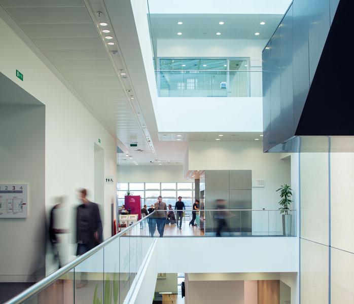 Interior photography of atrium and open studio. 3 of 10