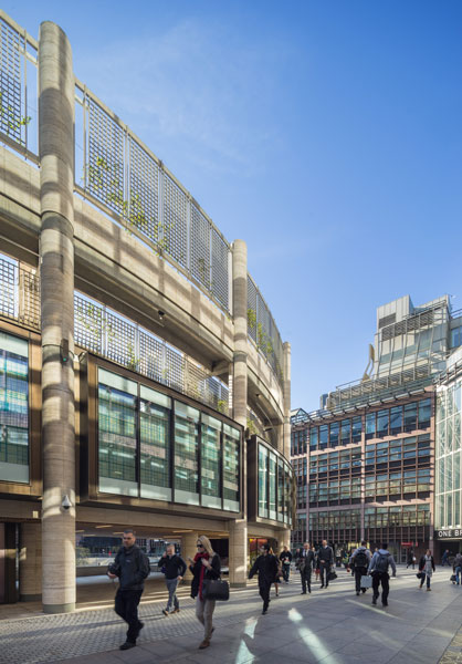 Broadgate development, London, exterior photograph. 1 of 23.