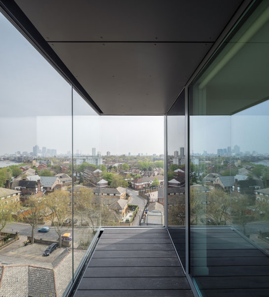 View through full height glazing over South London. 1 of 15.