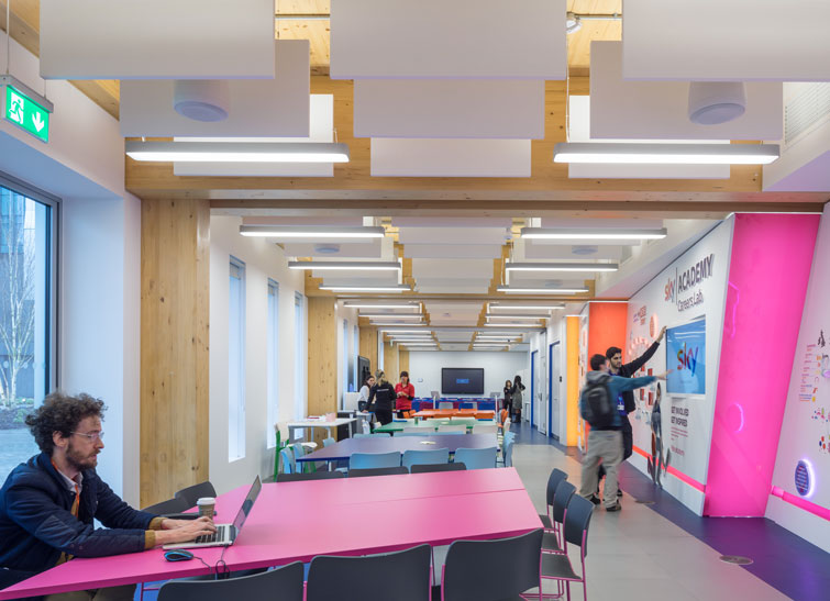 Interior photography showing open plan meeting space. 5 of 10.