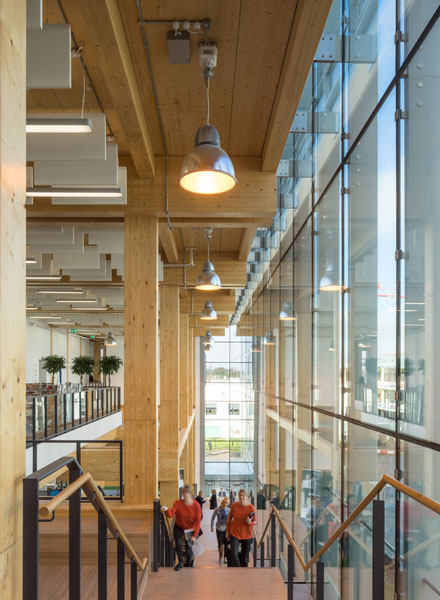 Interior photograph showing timber architecture in London. 9 of 10.