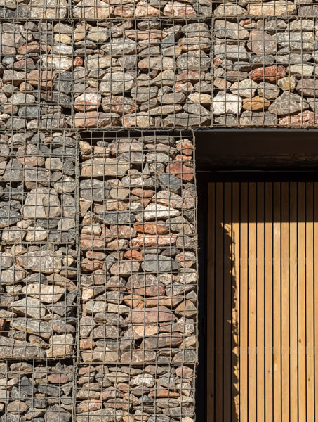 Gabion wall architectural detail photography. 10 of 14.