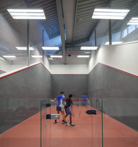 Interior photography of squash courts. 10 of 20